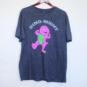 Barney Dino-Might novelty 90's nostalgia tee